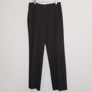 Armani Collezioni charcoal black suit trousers
